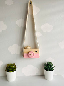 Nordic style wooden hanging camera