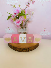 Girls Personalised Wooden Blocks