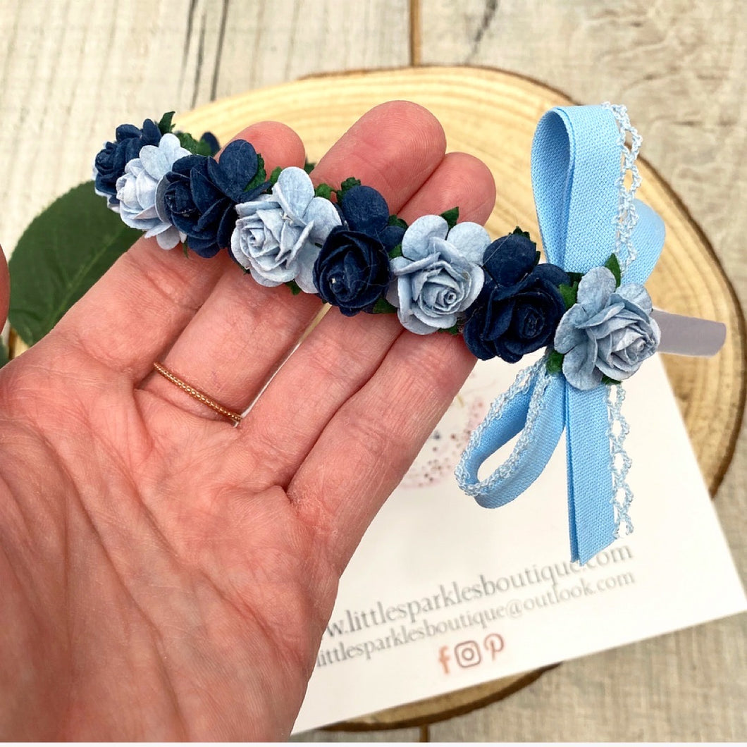 Navy And Baby Blue Aliceband