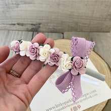 Lilac And White Alice Band
