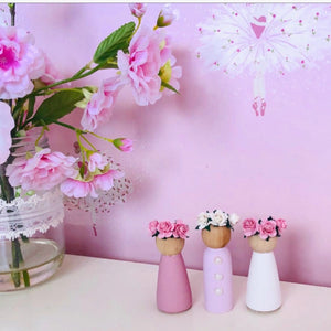 Pink And White Dolls Pegs