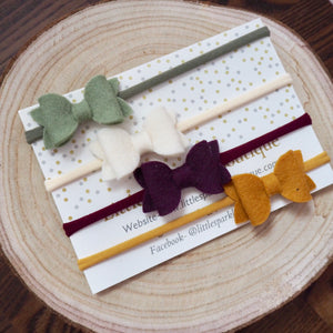 Diddy Autumn Felt Bows