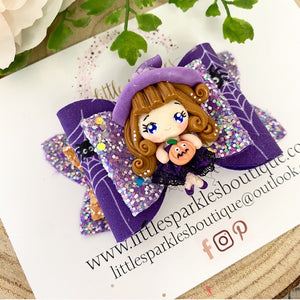 Limited Edition Purple Halloween Lace Witch