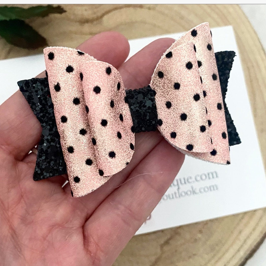 Spotty And Black Bow