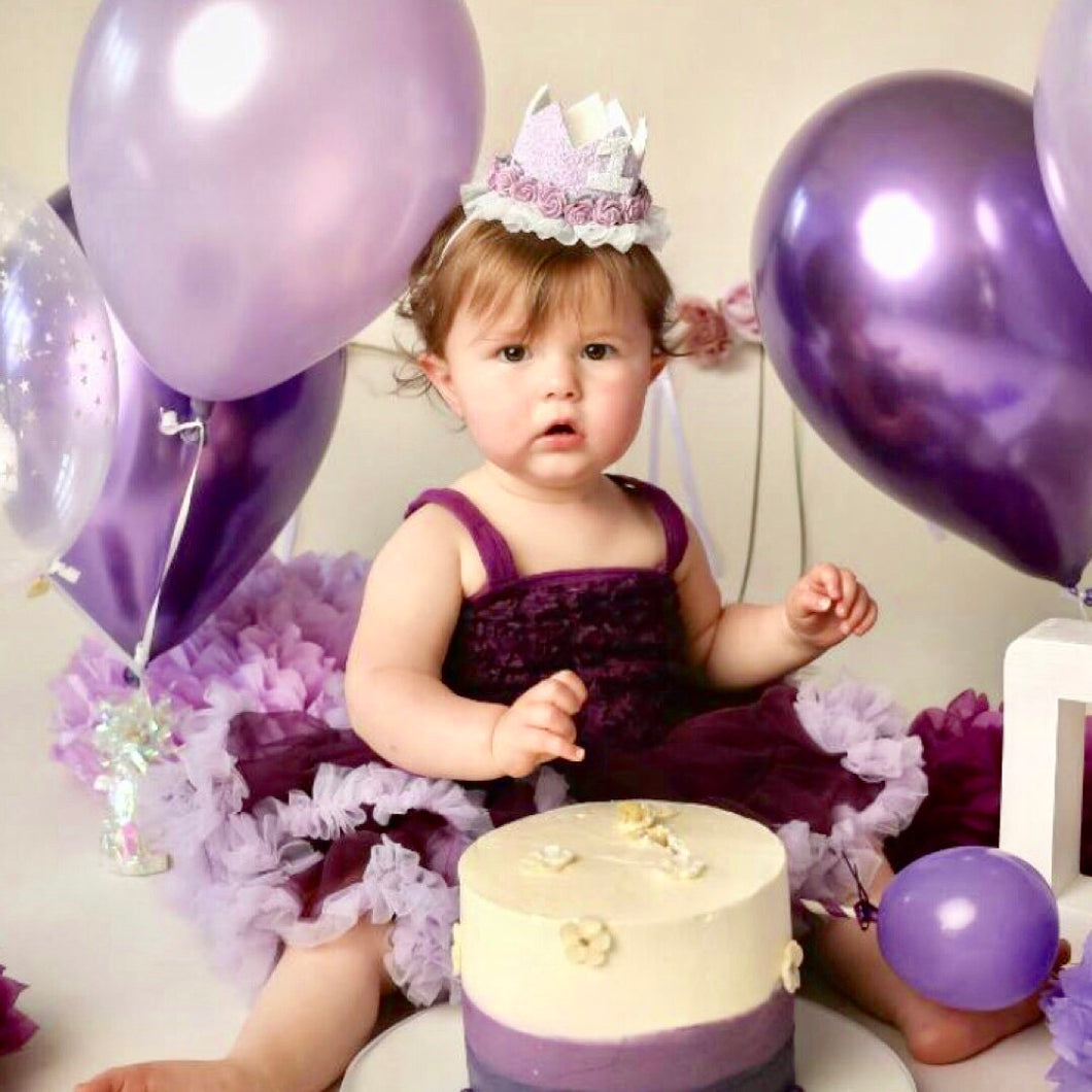 Lilac Birthday Crown
