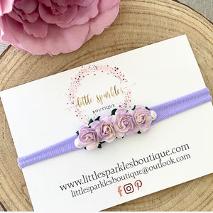 Lilac And White Mix Flower Headband