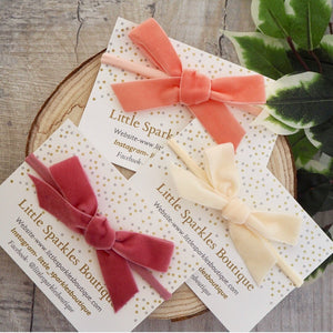 Velvet Ribbon Bow