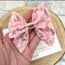 Pink Leopard Sailor Bow