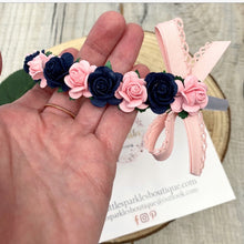 Navy And Pink Aliceband