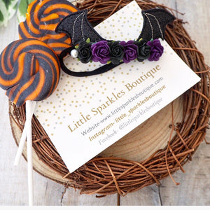 Bat Wing Flower headband