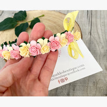 Lemon And Pink Floral Alice Band