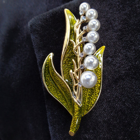 Lily of the Valley Brooch/Lapel Pin