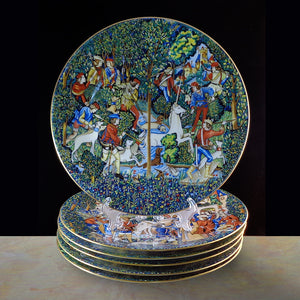 Limoges Haviland Unicorn Dessert Service