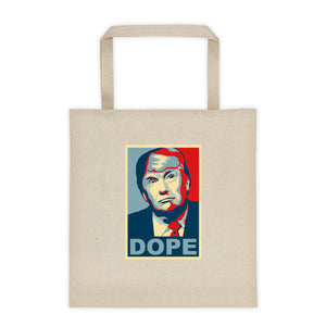 Trump Dope Square Bottom Tote Bag