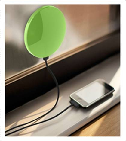 Portable 1800mAh Solar Window Mobile Charger