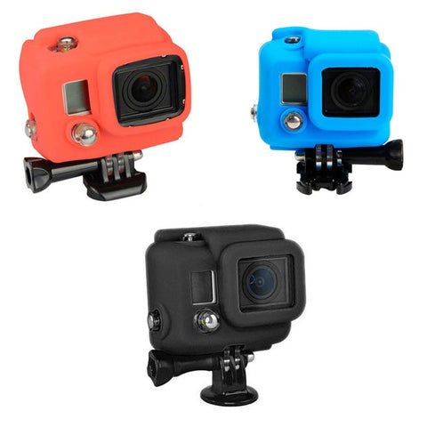 Soft Silicone Protective Rubber Case Cover for GoPro Hero 4 3+ Camera (5 Colors)