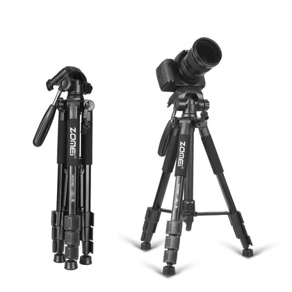 Professional Aluminium Portable Travel Camera Tripod with Pan Head for DSLR Camera