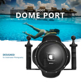 6 inch Dome Port with Handheld Stabilizer and Waterproof Case for GoPro Hero 4 3+ Camera