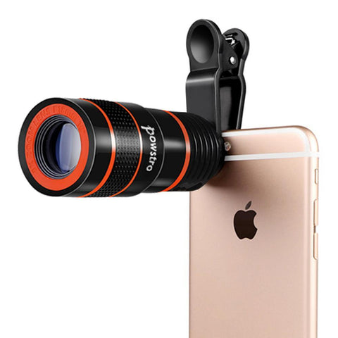 Portable 8x Zoom Optical Telescope Camera Lens with Clip for Phone