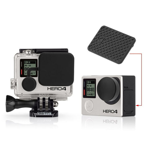 4 in 1 Housing Lens Cover, Lens Cap, Replacement Battery Door & Side Door Cover for GoPro Hero 3+ 4