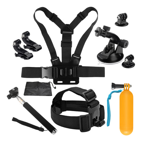 Action Bundle 2 - Action Camera Accessories for GoPro Hero (8 Pieces)