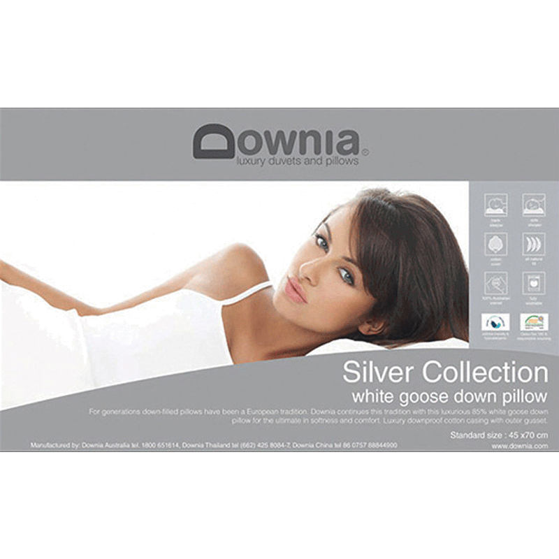 Downia Silver Collection 85% White Goose Down Pillow