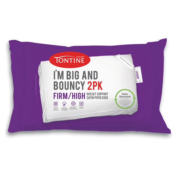 Tontine I'm Big & Bouncy High Profile Pillow - Firm Feel (2 Pack)