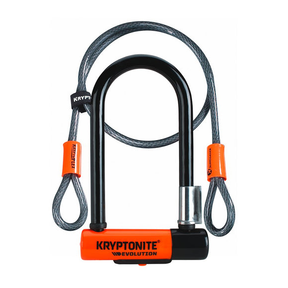 Kryptonite Evolution Mini-7 U-Lock with 4' Flex Cable - Steed Cycles