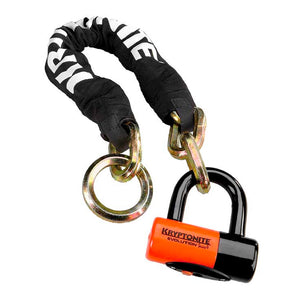 Kryptonite New York Cinch Ring Chain 1275 w/EV Series 4 Disc Lock - Steed Cycles