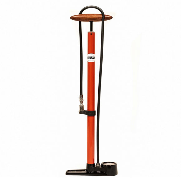 Silca Pista Red Floor Pump - Steed Cycles