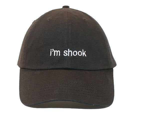 536504cd06c632 Im Shook Embroidered Cap Dad cap dad hat embroidered baseball cap Peach hat  unisex cap ...