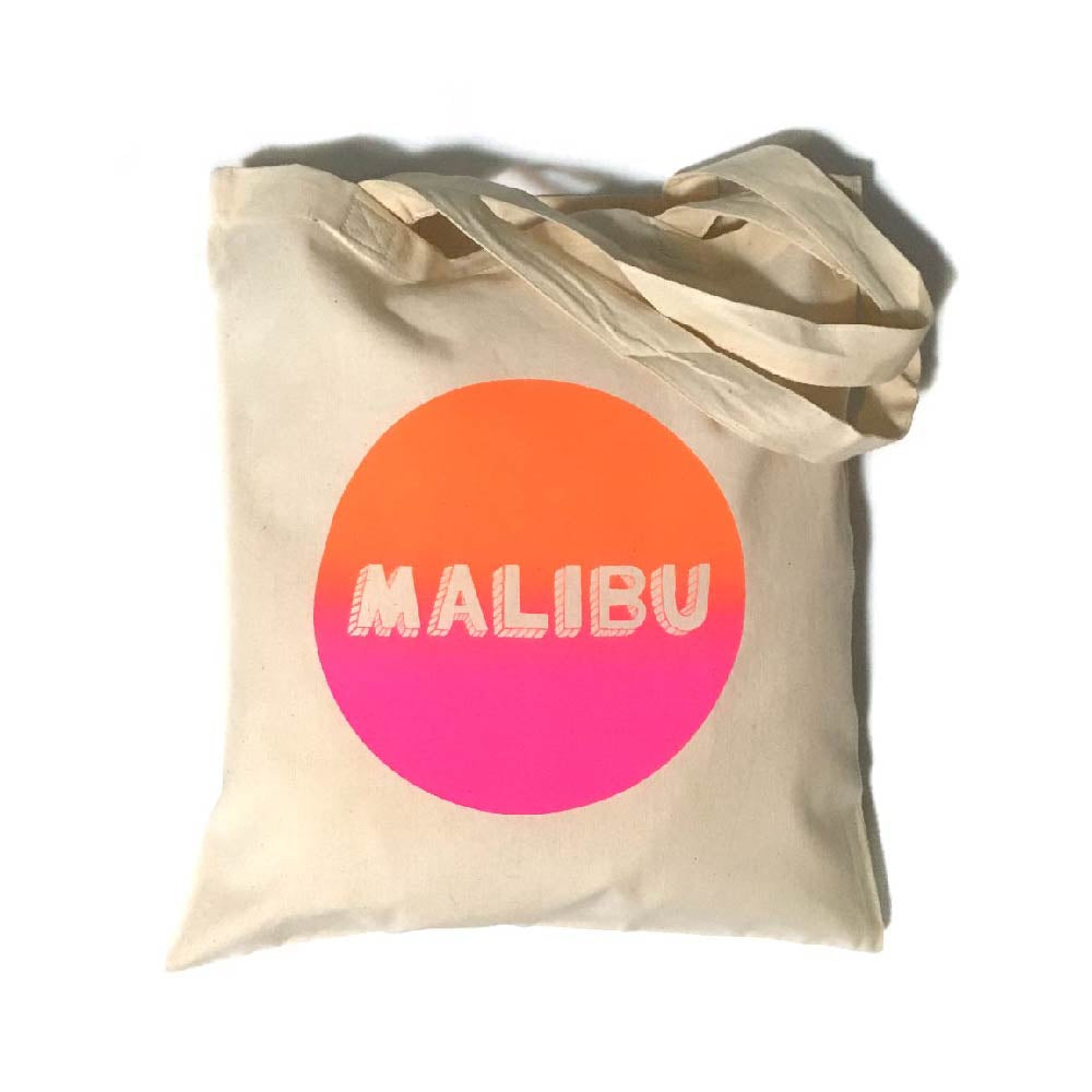 Day Glow Malibu Tote Bag