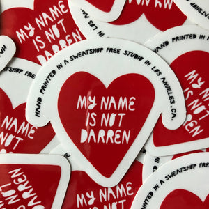 Not Darren - Sticker