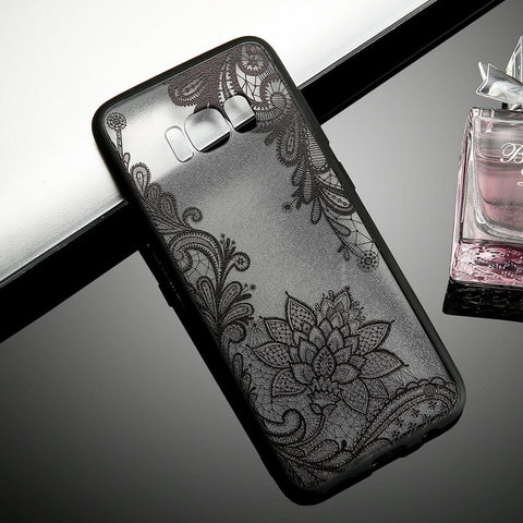 Sexy Retro Floral Case For iPhone 7 6 6s Plus & Samsung Galaxy S7 S6 Edge S8 Plus- Soft case