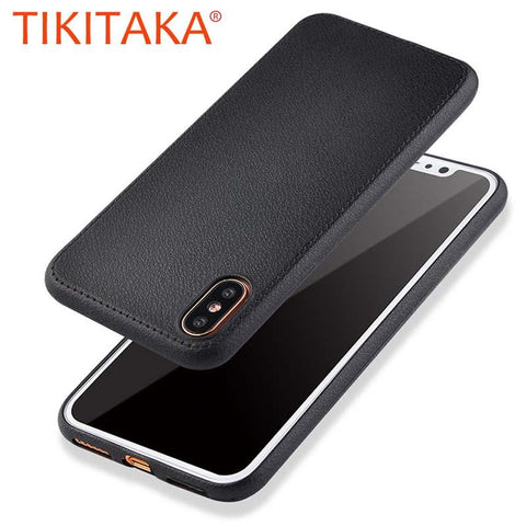 Litchi Texture Leather Soft Durable Shockproof Armor Case For iPhone X
