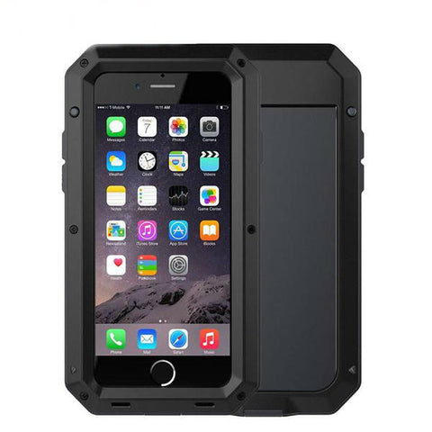Armor Shockproof Metal Aluminum Case + Silicon Protective case for iPhone 7 6 6S Plus 5 5s SE