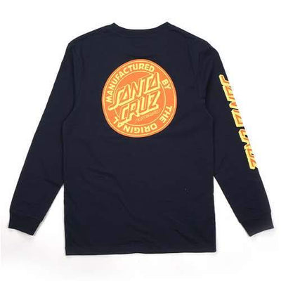 Santa Cruz - MFG Dot Long Sleeve T-Shirt - Navy