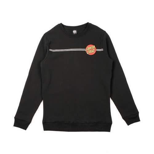 Santa Cruz - Classic Dot Fleece Crew Neck Jumper - Black