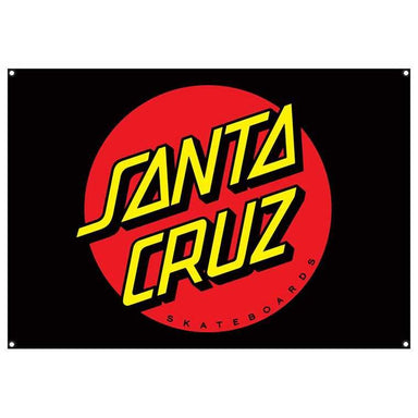 "Santa Cruz | Dot Flag | Black | 32"" x 46"""