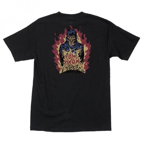 Santa Cruz - Tom Knox Fire Pit Mens Tee Black