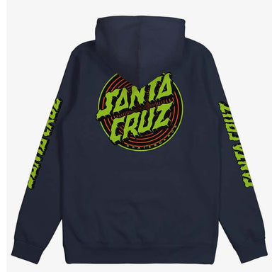 Santa Cruz | Depth Dot Youth Hoodie | Available in Black & Blue Night