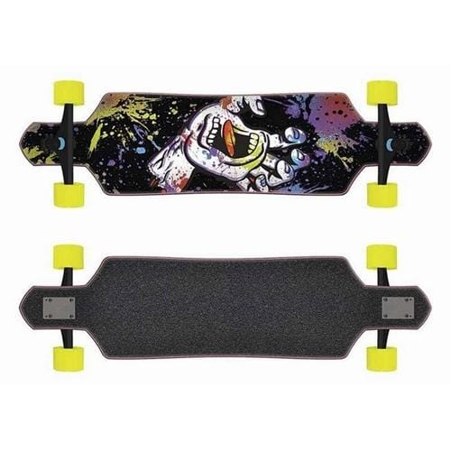 Santa Cruz | Hand Splatter Drop Thru Longboard | 9
