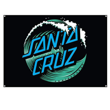 Santa Cruz | Wave Dot Flag | Black