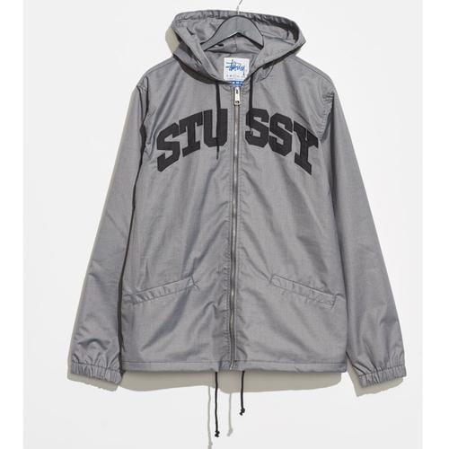 Stussy - Sport Hooded Coaches Jacket - Grey Merle