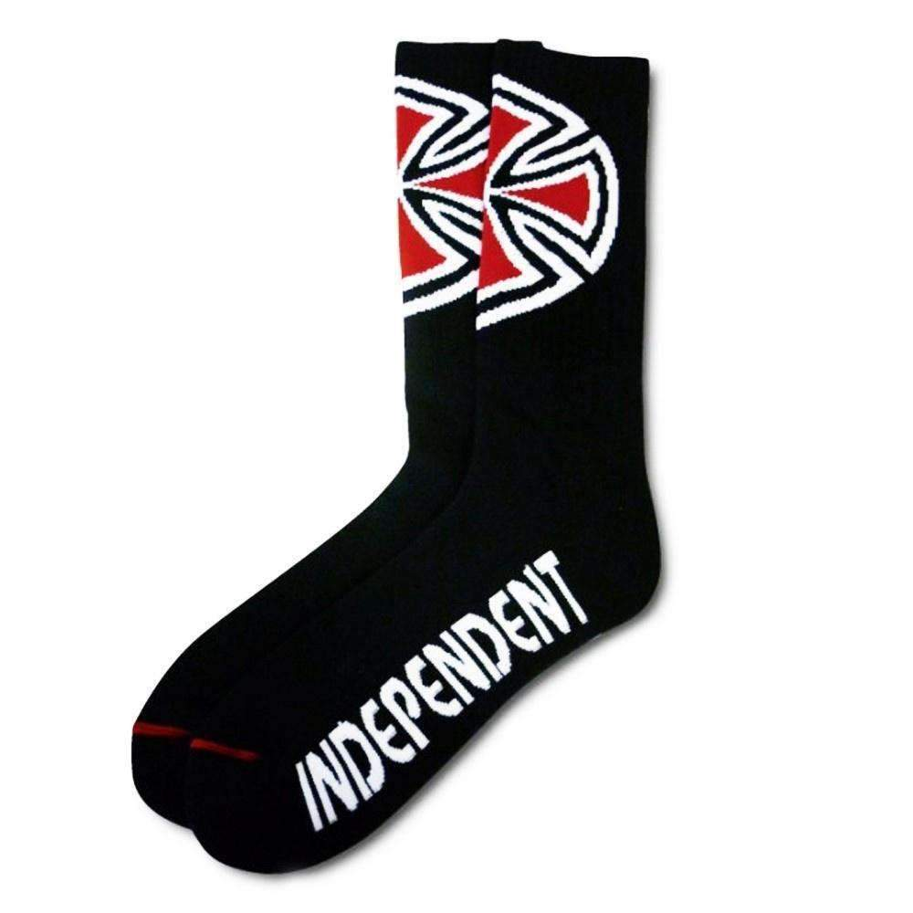 Independent Truck Co OG Cross Socks - 4 Pair Pack - Black
