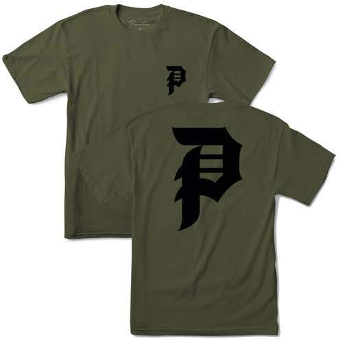 Primitive Skate Dirty P Tee - Military Green