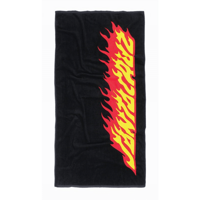 Santa Cruz Flaming Strip Towel
