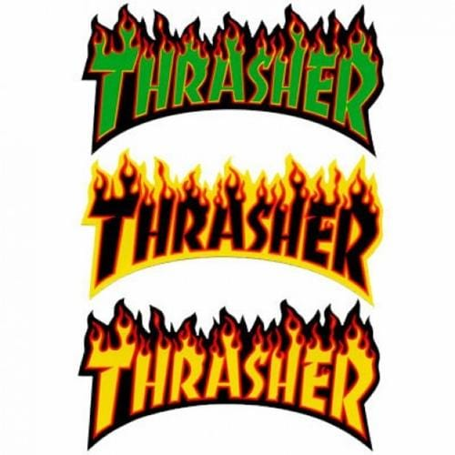 Thrasher | Flame Logo Sticker | 6""