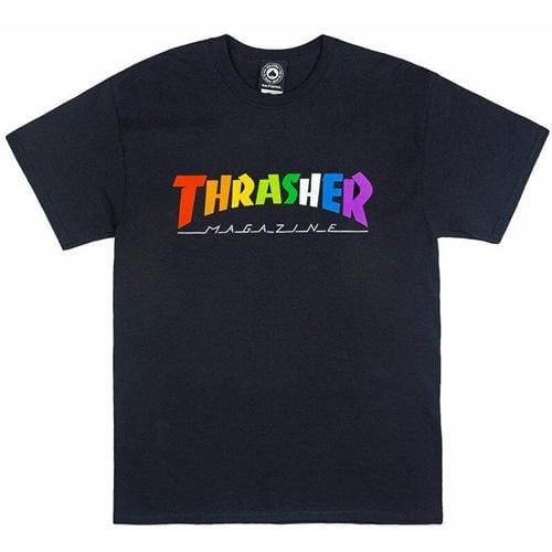 Thrasher | Rainbow Mag | T-Shirt | Men's | Black