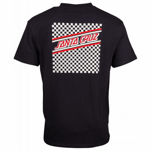 Santa Cruz | Check Stripe | T-Shirt | Black